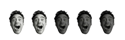 2 Robert Downey Heads