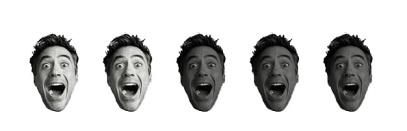 2 Robert Downey Heads