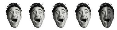 4.5 Robert Downey Heads