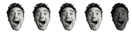 4 Robert Downey Heads